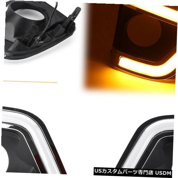 Turn Signal Lamp トヨタカローラ14-15用LEDデイタイムランニングライトターンシグナルフォグ警告ランプ LED Daytime Running Light Turn Signal Fog Warning Lamp For Toyota Corolla 14-15