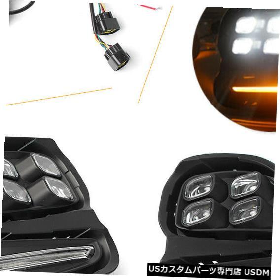 Turn Signal Lamp シボレーキャバリエ16-17のLEDデイタイムランニングライトフォグランプDRLターンシグナル LED Daytime Running Light Fog Lamp DRL Turn Signal for Chevrolet Cavalier 16-17