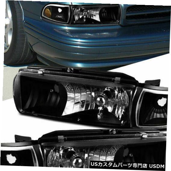 Headlights 91-96 94-96 Signal Signal Lamp Impala Chevy Lamps Corner Turn For シボレー91-96カプリース94-96インパラブラックヘッドライトコーナーターンシグナルランプ Caprice Turn Black
