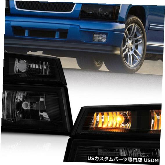Turn Signal Lamp [SINISTER BLACK] 2004-2012シボレーコロラドバンパーシグナルヘッドライトランプ4PCコンボ [SINISTER BLACK] 2004-2012 Chevy Colorado Bumper Signal Headlight Lamp 4PC Combo