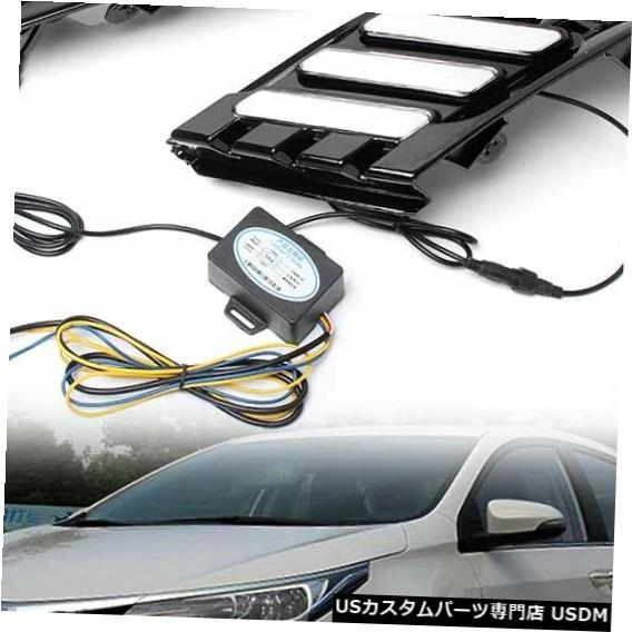 Turn Signal Lamp LEDデイタイムランニングライトDRLランプターンシグナルフィットトヨタカローラ2017車ha LED Daytime Running Lights DRL Lamp Turn Signals Fit Toyota Corolla 2017 Car ha