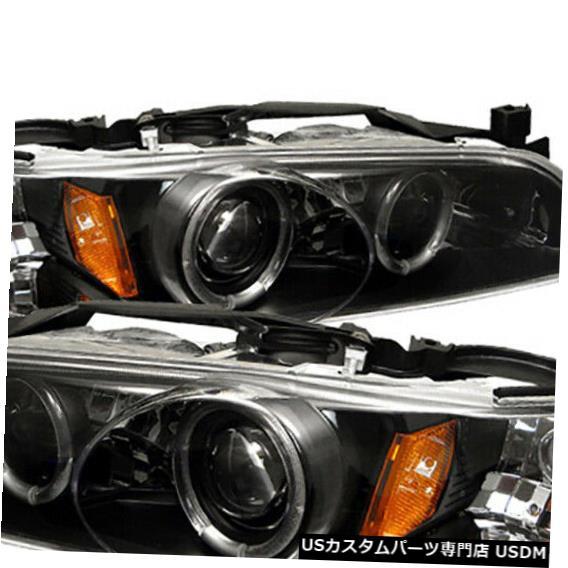 Black Grand 97-03 Pontiac Signal Projector Headlights 97-03ポンティアックグランプリHaloプロジェクターブラックヘッドライトシグナルランプ左+右 Lamp Halo Left+Right Prix Signal Turn Lamp