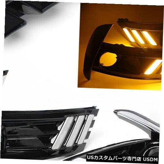 Turn Signal Lamp トヨタカローラアルティス17用LEDデイタイムランニングライトターンシグナルDRLヘッドランプ LED Daytime Running Light Turn Signal DRL Head Lamp for Toyota Corolla Altis 17