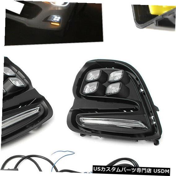 Turn Signal Lamp シボレーキャバリア16-17用LED DRLデイタイムランニングライトフォグターンシグナルランプ LED DRL Daytime Running Light Fog Turn Signal Lamp For Chevrolet Cavalier 16-17