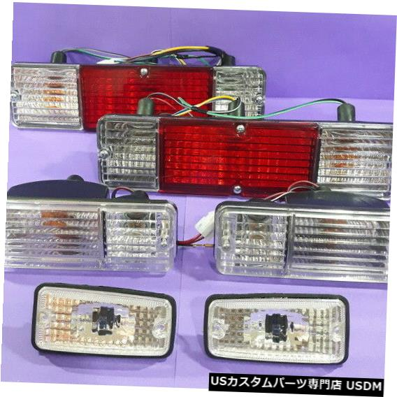 Turn Signal Lamp スズキジムニーサムライシエラテールライト+サイドおよびフロントターンシグナルランプクリスタル SUZUKI JIMNY SAMURAI SIERRA TAIL LIGHT+SIDE AND FRONT TURN SIGNAL LAMPS CRYSTAL