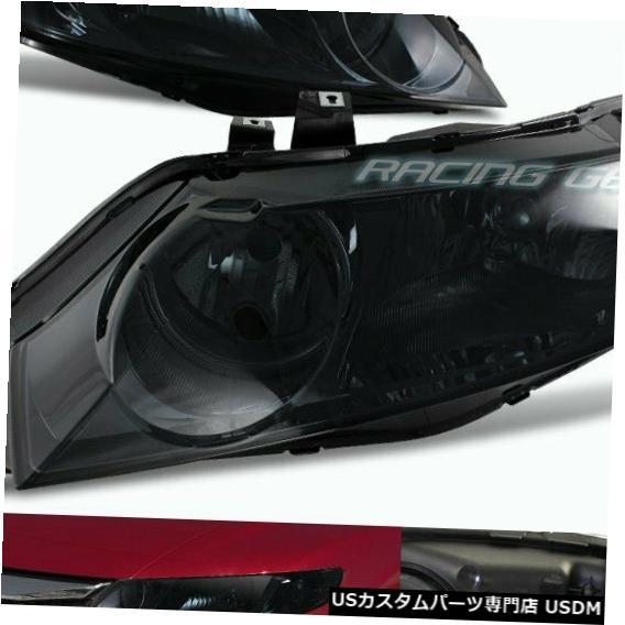 Headlight /クリアリフレクターヘッドライトフィット06-11ホンダシビック4DR LENS CIVIC FIT HOUSING クロームハウジングスモークレンズW HEADLIGHTS 06-11 HONDA SMOKE W/CLEAR 4DR CHROME REFLECTOR