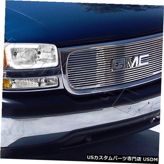 Headlight GMC YUKON / SIERRA 1500 2500クロームDRL LEDヘッドライト+バンプ用 ER W /アンバーリフレクター FOR GMC YUKON/SIERRA 1500 2500 CHROME DRL LED HEADLIGHT+BUMPER W/AMBER REFLECTOR