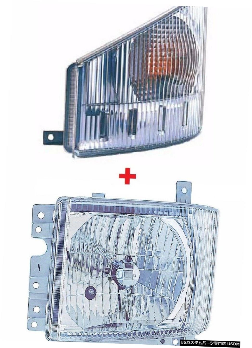 Headlight いすZ NPR NQR HD 2008-2015左ドライバートラックヘッドライトシグナルライト電球付き ISUZU NPR NQR HD 2008-2015 LEFT DRIVER TRUCK HEADLIGHT SIGNAL LIGHT NEW W/BULBS
