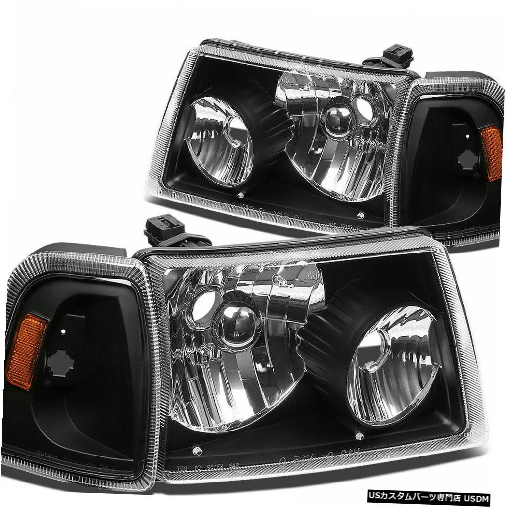 Headlight WINNEBAGO VISTA 2010 2011 2012ペアブラックヘッドランプヘッドライトフロントライトRV WINNEBAGO VISTA 2010 2011 2012 PAIR BLACK HEAD LAMPS HEADLIGHTS FRONT LIGHTS RV