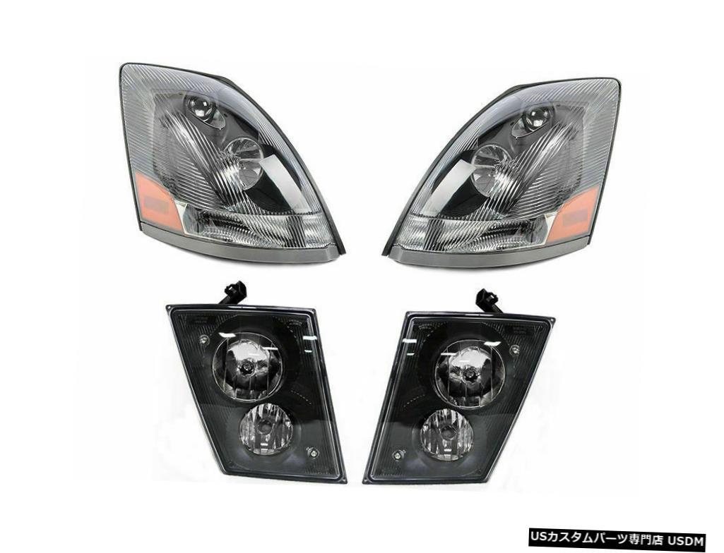 Headlight ボルボ2004 2005 2006 2007 VN VNL VNM 630670シリーズヘッドライトフォグランプセット Volvo 2004 2005 2006 2007 VN VNL VNM 630 670 Series HEADLIGHTS FOG LIGHTS SET