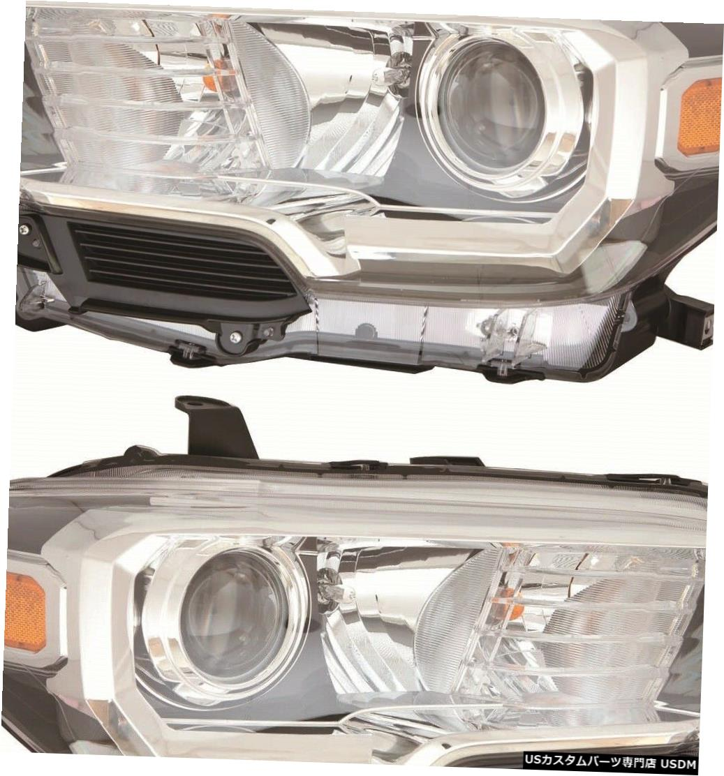 Headlight FIT TOYOTA TACOMA 2018 RIGHT LEFT HEADLIGHTS HEAD LIGHTS LAMP W / O LED DRL PAIR FIT TOYOTA TACOMA 2018 RIGHT LEFT HEADLIGHTS HEAD LIGHTS LAMP W/O LED DRL PAIR