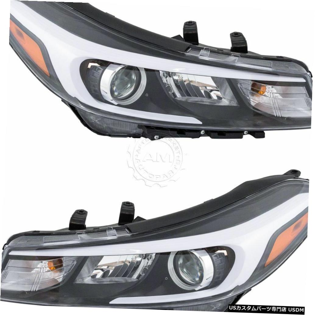 Headlight FIT KIA FORTE 2017 RIGHT LEFT HEADLIGHTS HEAD LIGHTS FRONT LAMPS W / O LED PAIR FIT KIA FORTE 2017 RIGHT LEFT HEADLIGHTS HEAD LIGHTS FRONT LAMPS W/O LED PAIR