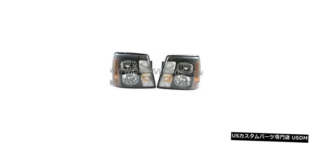 Headlight サファリコンプレッション2008 2009ペアブラックヘッドライトヘッドライトフロントランプRV SAFARI COMPRESSION 2008 2009 PAIR BLACK HEADLIGHTS HEAD LIGHTS FRONT LAMPS RV