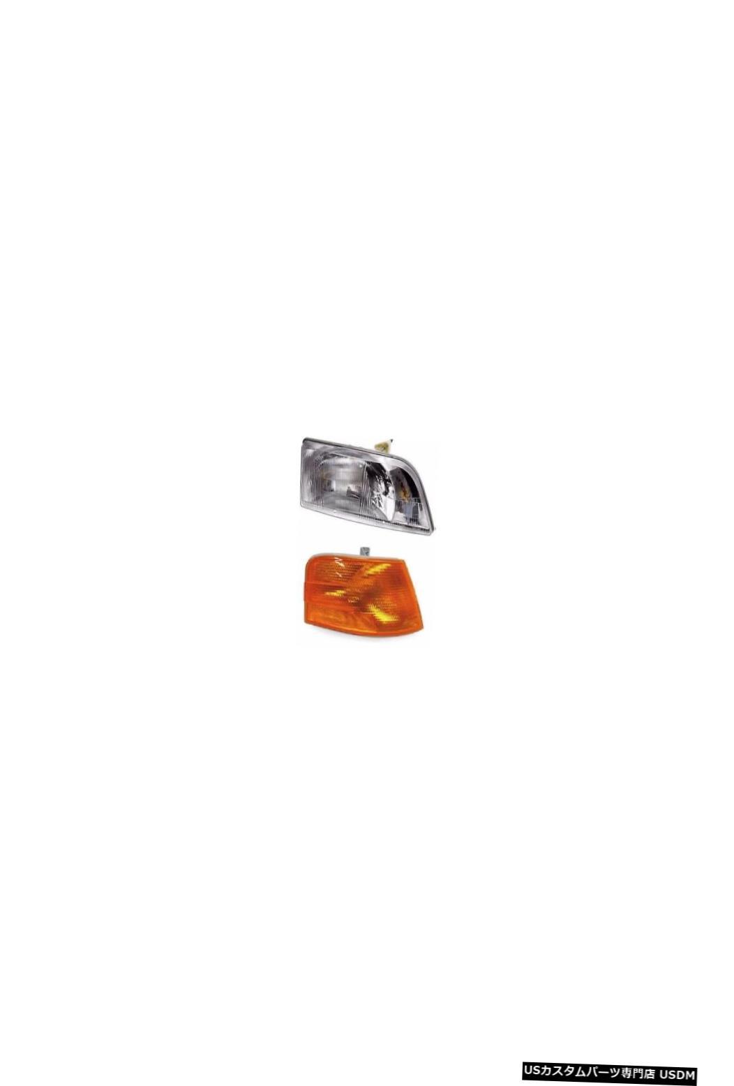 Headlight VOLVO VNL VMN 200300 1996-2003 DAYCABトラックヘッドライト、コーナーライト付き VOLVO VNL VMN 200 300 1996-2003 DAYCAB Truck Headlight with Corner RIGHT
