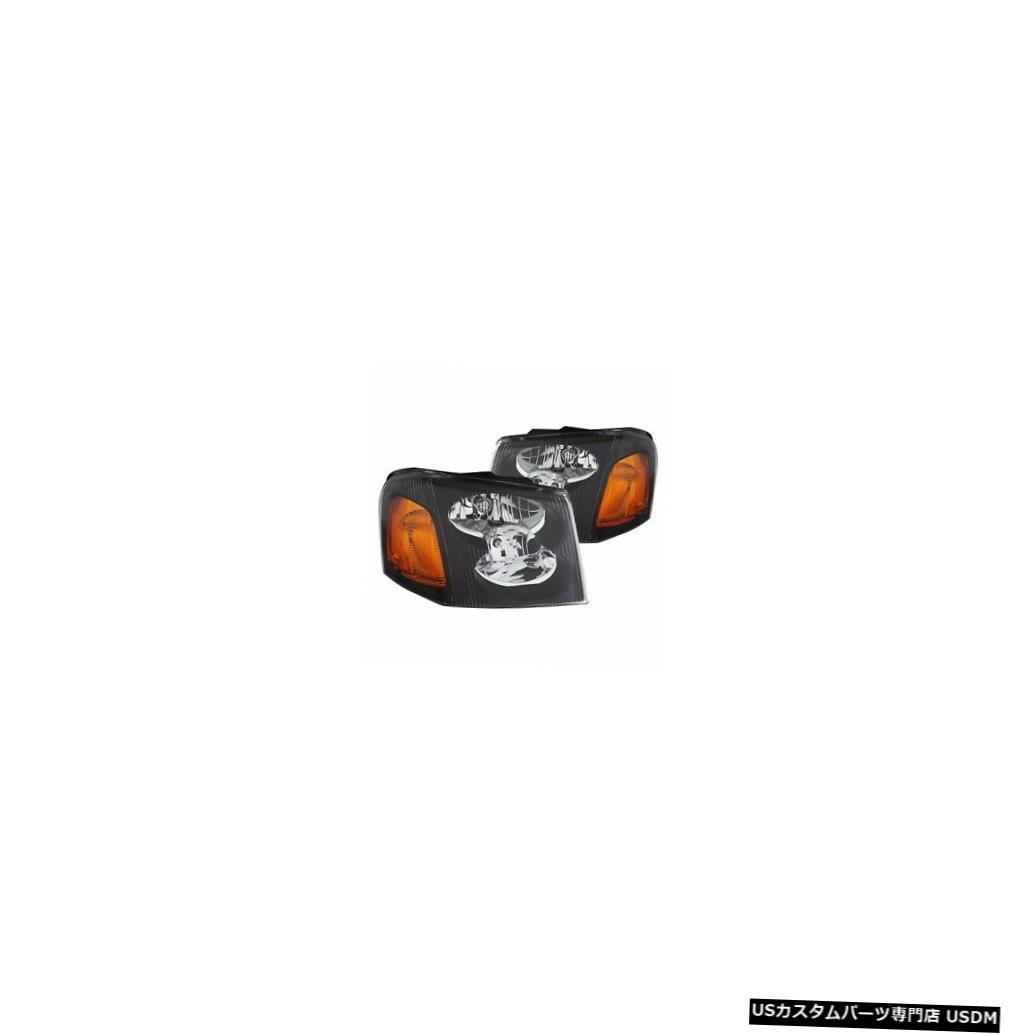 Headlight ITASCA SUNCRUISER 2006 2007ペアセットブラックヘッドライトヘッドライトフロントランプRV ITASCA SUNCRUISER 2006 2007 PAIR SET BLACK HEADLIGHTS HEAD LIGHTS FRONT LAMPS RV