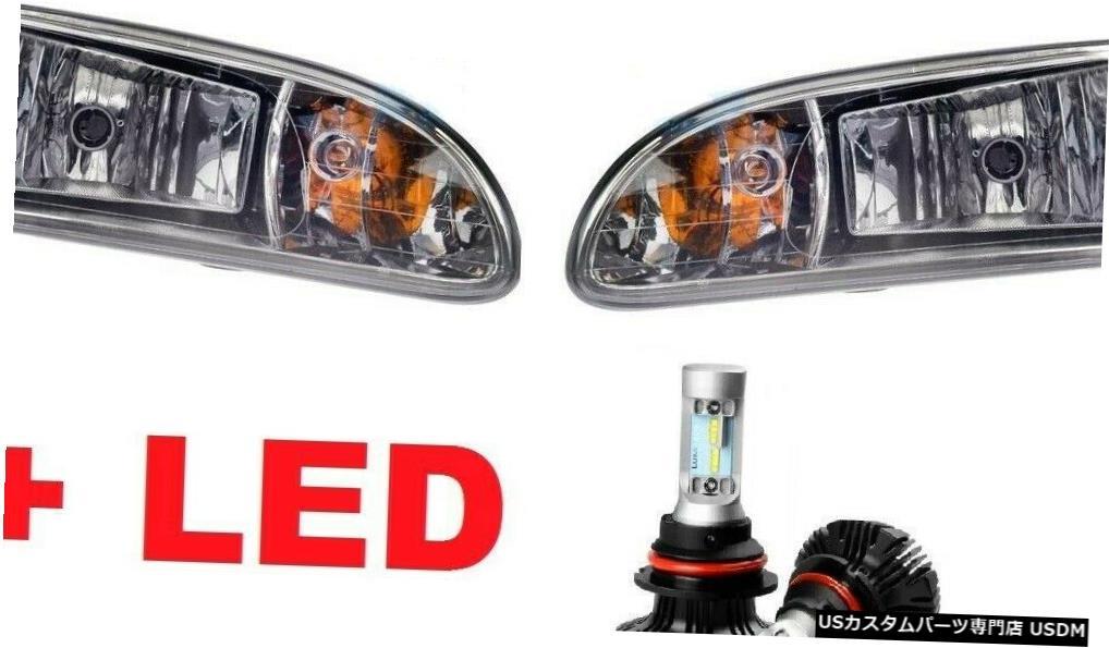 Headlight ピータービルトトラック325335337340 2000-2015ヘッドライトランプペアW / LEDバルブ PETERBILT TRUCK 325 335 337 340 2000-2015 HEAD LIGHTS LAMPS PAIR W/LED BULBS