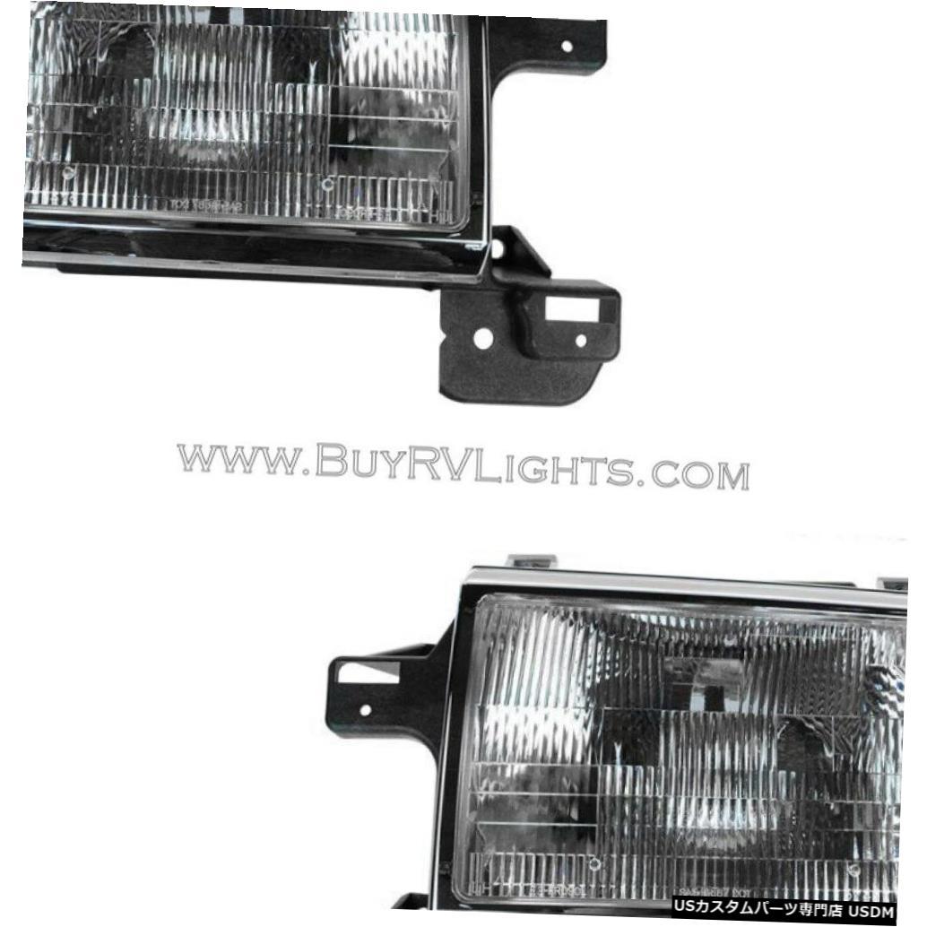 Headlight カントリーコーチアリュール2000 2001 2002ペアヘッドライトヘッドライトフロントランプRV COUNTRY COACH ALLURE 2000 2001 2002 PAIR HEADLIGHTS HEAD LIGHTS FRONT LAMPS RV