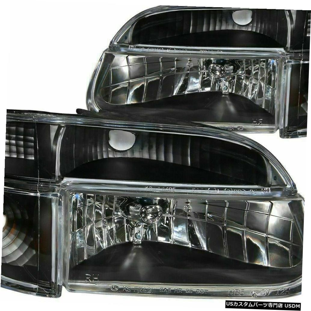 Headlight アルファファウンダー2007 2008ダイヤモンドブラックヘッドライトシグナルヘッドランプ4PCセットRV ALFA FOUNDER 2007 2008 DIAMOND BLACK HEADLIGHTS SIGNAL HEAD LAMPS 4PC SET RV