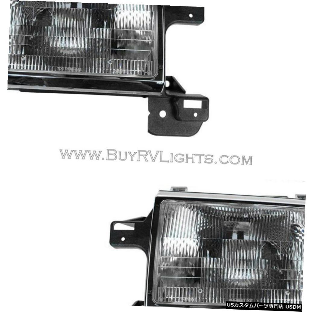 Headlight カントリーコーチマグナ1993-1996 1997 1998ペアヘッドライトヘッドライトフロントランプRV COUNTRY COACH MAGNA 1993-1996 1997 1998 PAIR HEADLIGHT HEAD LIGHTS FRON LAMPS RV