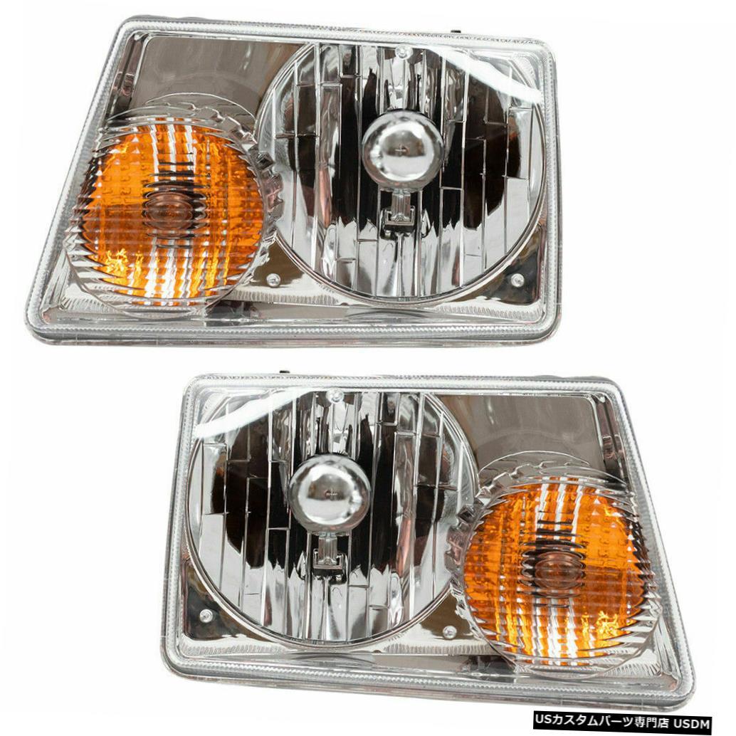 Headlight ITASCA SUNSTAR 2010 2011-2013ペアヘッドランプヘッドライトフロントライトRV ITASCA SUNSTAR 2010 2011-2013 PAIR HEAD LAMPS HEADLIGHTS FRONT LIGHTS RV