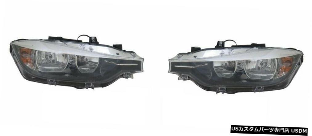 Headlight 2016-2018 BMW F30セダンハロゲン右左ヘッドライトヘッドライトランプペアに適合 Fits 2016-2018 BMW F30 SEDAN HALOGEN RIGHT LEFT HEADLIGHTS HEAD LIGHTS LAMP PAIR