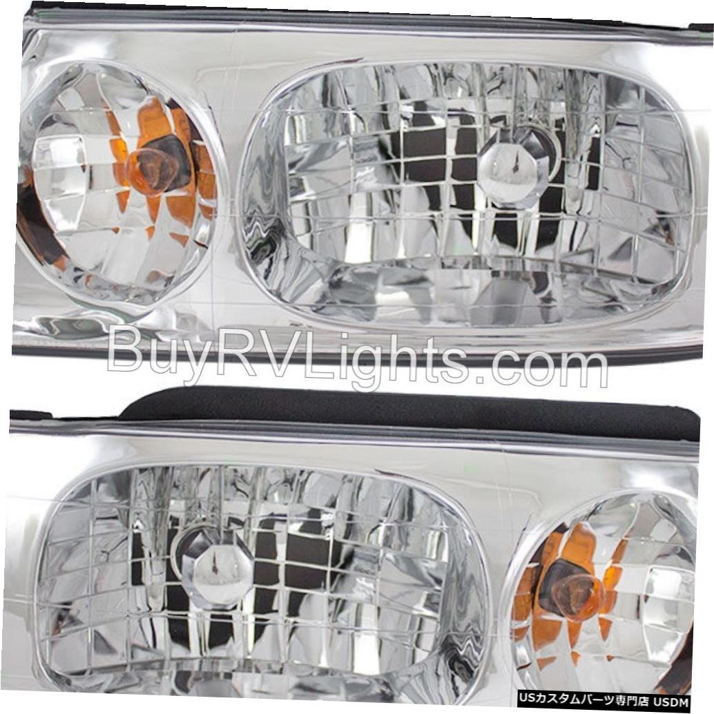 Headlight ビーバーモーターCONTESSA 2002 2003 2004ペアフロントライトヘッドライトヘッドランプRV BEAVER MOTOR CONTESSA 2002 2003 2004 PAIR FRONT LIGHTS HEADLIGHTS HEAD LAMPS RV