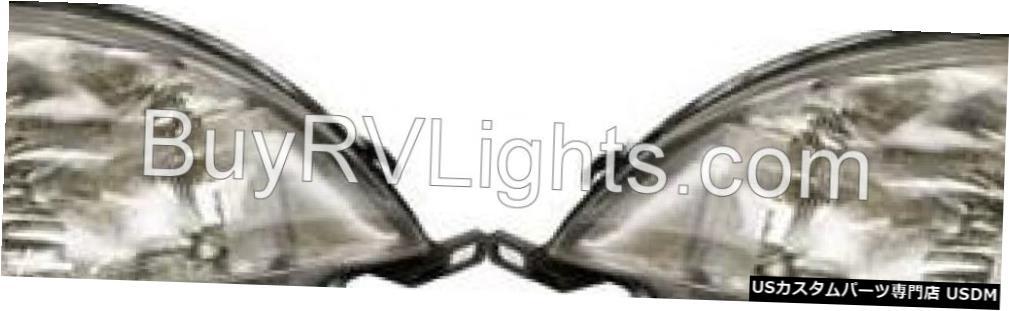 Headlight ビーバーコーチSANTIAM 2001 2002ペアセットヘッドライトヘッドライトフロントランプRV BEAVER COACH SANTIAM 2001 2002 PAIR SET HEADLIGHT HEAD LIGHT FRONT LAMP RV