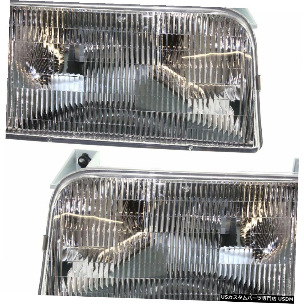 Headlight カントリーコーチウィンザー1999 2000 2001ペアフロントヘッドライトランプRVヘッドライト COUNTRY COACH WINDSOR 1999 2000 2001 PAIR FRONT HEAD LIGHTS LAMPS RV HEADLIGHTS