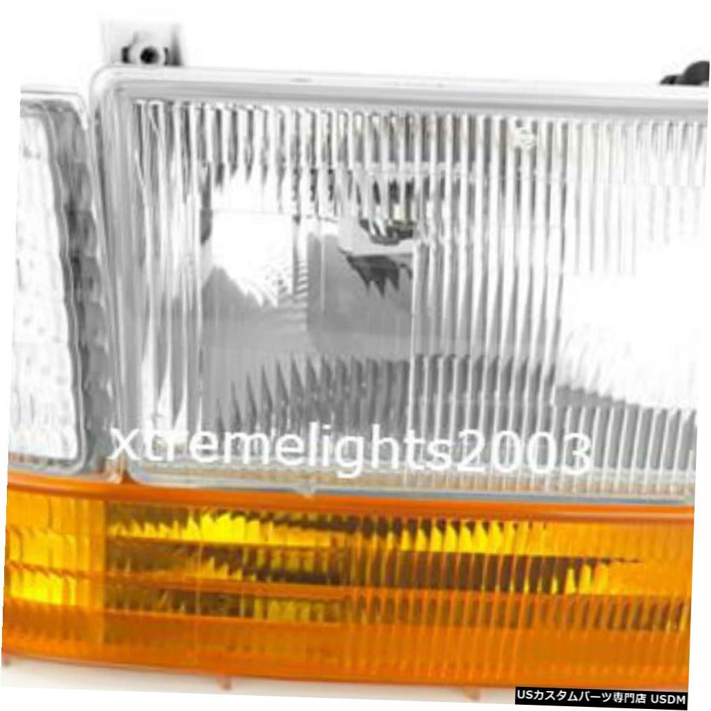 Headlight カントリーコーチアフィニティ1994 1995右フロントヘッドライトシグナルサイドライト3PC RV COUNTRY COACH AFFINITY 1994 1995 RIGHT FRONT HEADLIGHT SIGNAL SIDE LIGHTS 3PC RV