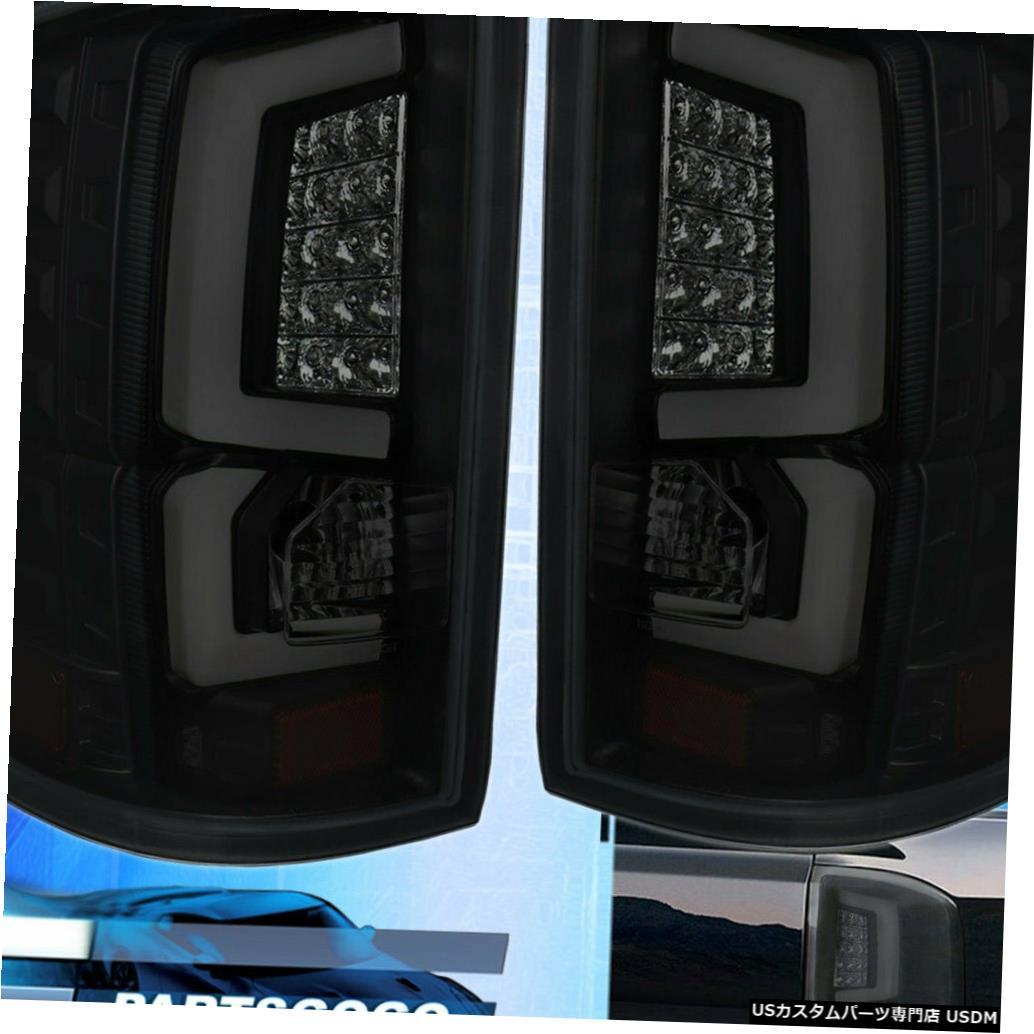 テールライト 2014-2018 Gmc Sierra 1500チューブ用テールライトランプブラックハウジングスモークレンズ用 For 2014-2018 Gmc Sierra 1500 Tube Led Tail Light Lamps Black Housing Smoke Lens