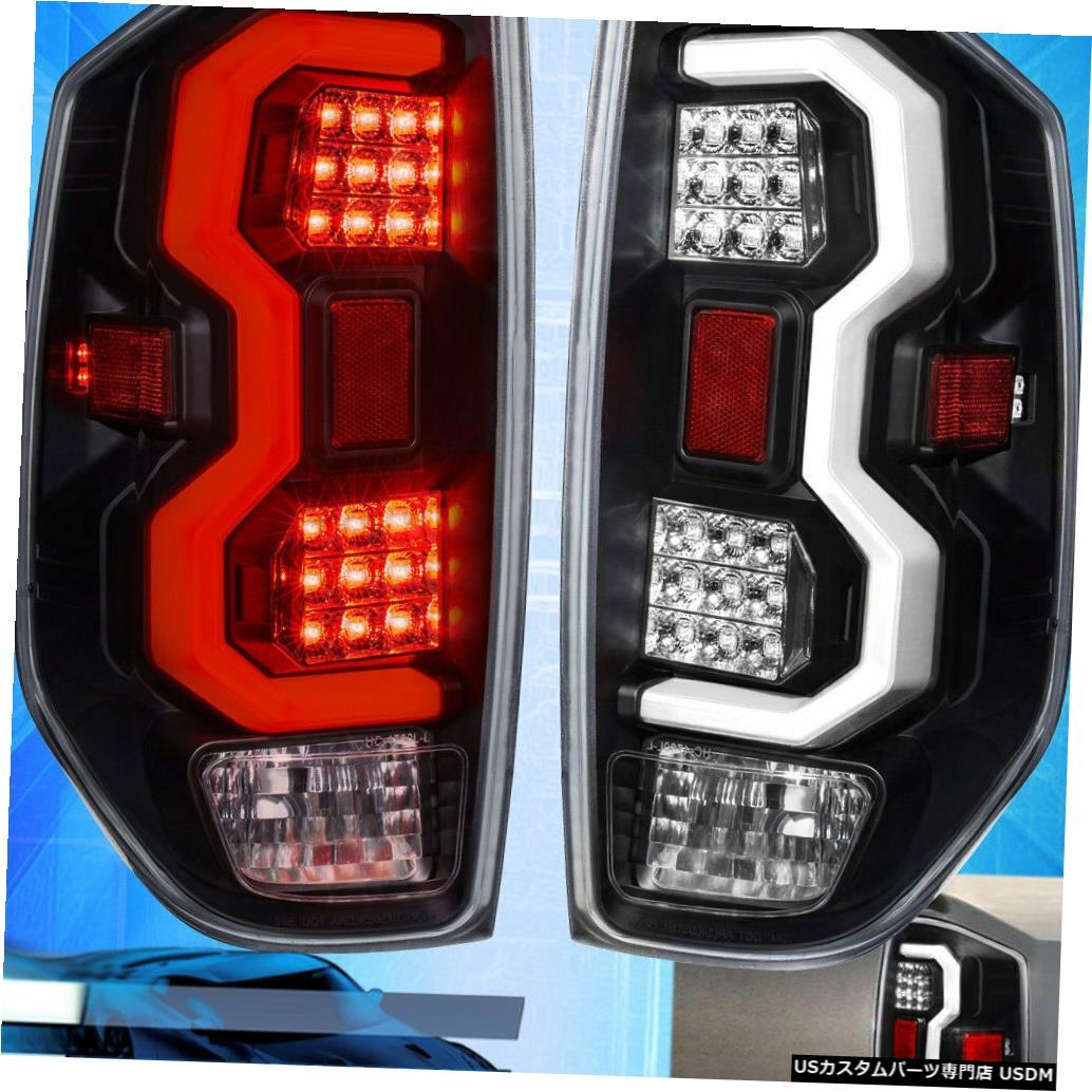 テールライト 14-20ツンドラブラックハウジング用クリアレンズテールライトホワイトチューブLed交換 For 14-20 Tundra Black Housing Clear Lens Tail Lights White Tube Led Replacement