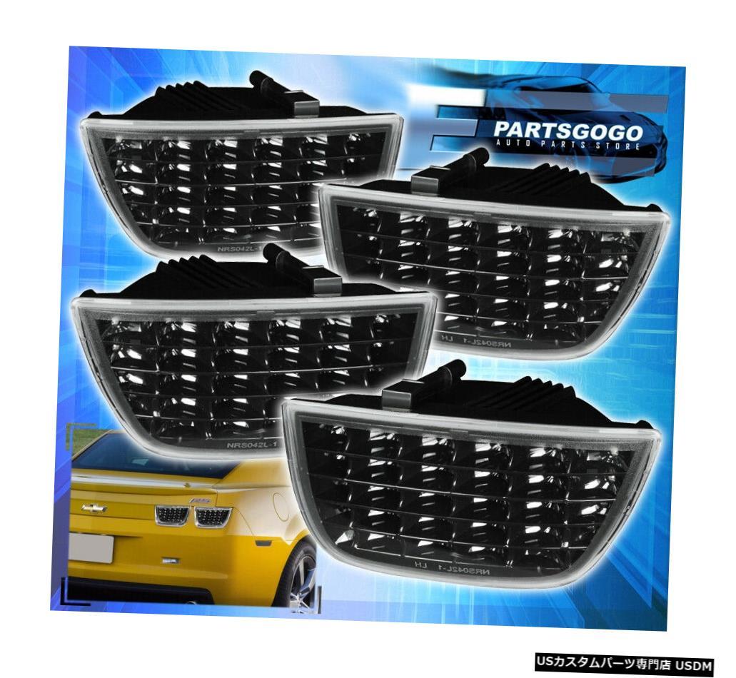テールライト 2010-2013シボレーカマロLtシーケンシャルユーロブラックハウジングLedテールライトランプ 2010-2013 Chevy Camaro Lt Sequential Euro Black Housing Led Tail Lights Lamps