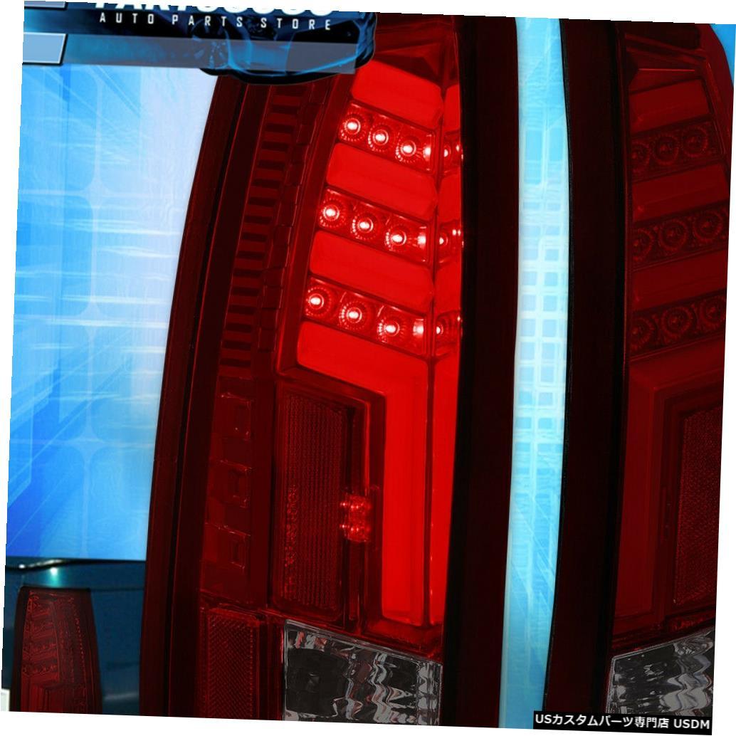 テールライト 1988-1998シボレーGmc C10赤ハウジング煙レンズLedチューブテールライトランプセット For 1988-1998 Chevy Gmc C10 Red Housing Smoke Lens Led Tube Tail Lights Lamp Set