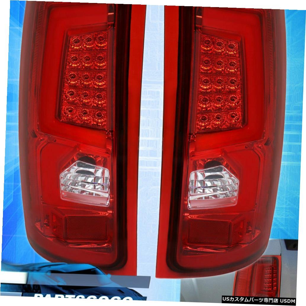 テールライト 07-13 Gmc Sierra 1500 C-Streak New Generation Led Brake Tail Lights Red Lensの場合 For 07-13 Gmc Sierra 1500 C-Streak New Generation Led Brake Tail Lights Red Lens