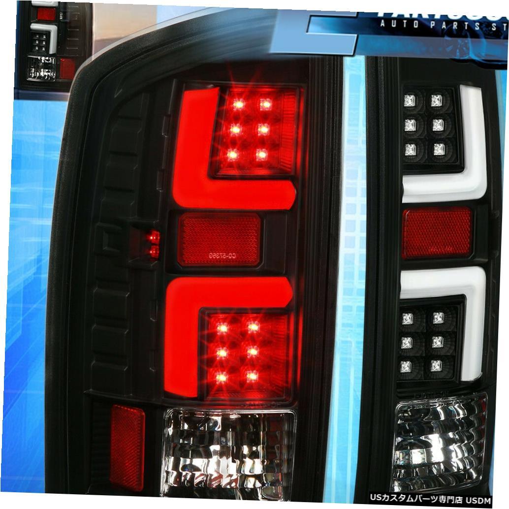 テールライト 02-06ダッジラム1500 2500 3500の黒/白LEDテールブレーキライトランプ For 02-06 Dodge Ram 1500 2500 3500 Black / White LED Tail Brake Lights Lamps