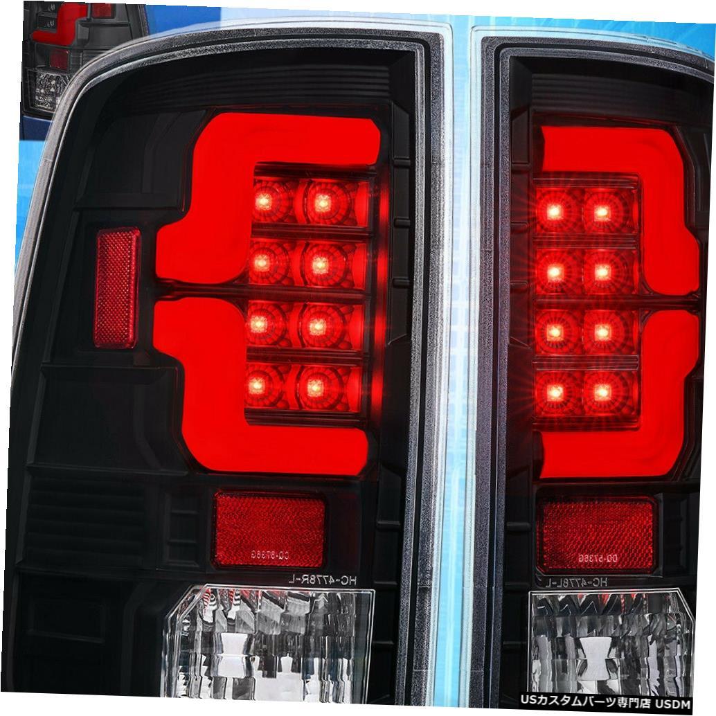 テールライト 2009-2018ダッジラムクリアレンズブラックハウジング赤Ledテールライトランプのアップグレード For 2009-2018 Dodge Ram Clear Lens Black Housing Red Led Tail Light Lamp Upgrade