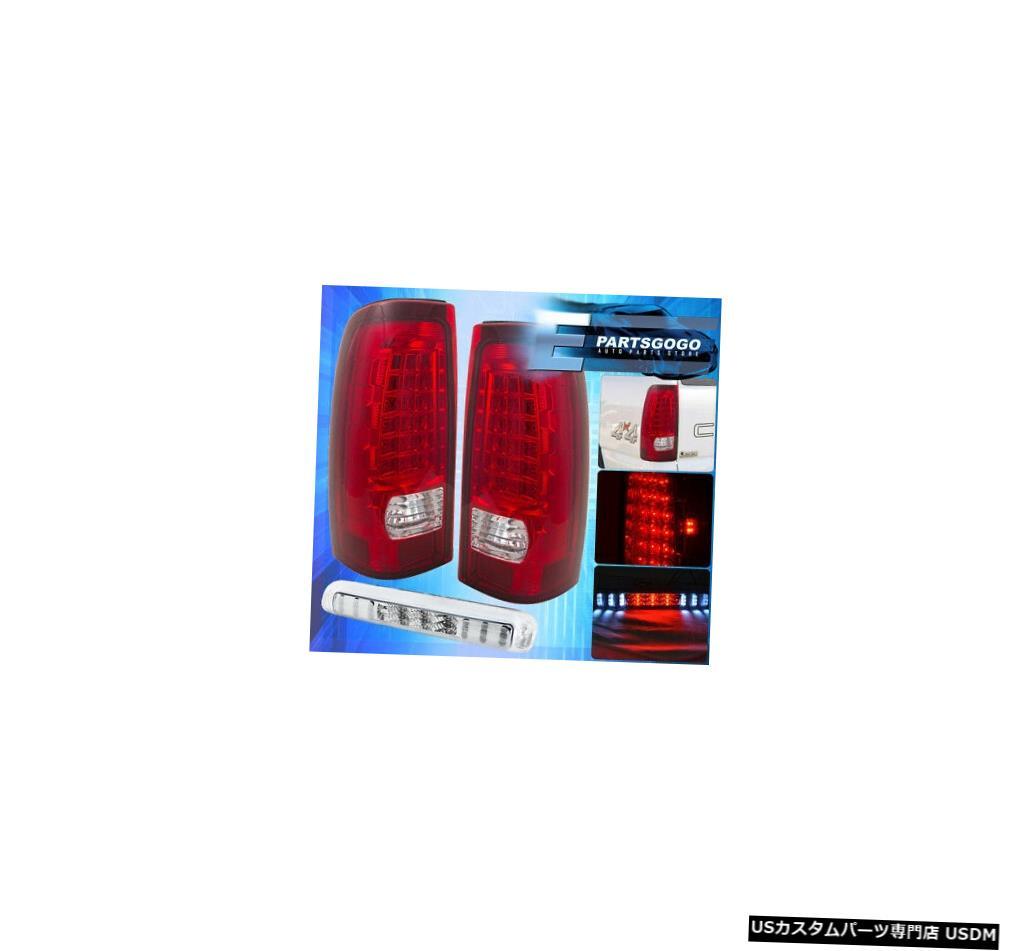 テールライト 03-06シボレーシルバラードフルLedテールライトアセンブリ+ 3Rdブレーキランプユニット赤レンズ 03-06 Chevy Silverado Full Led Tail Light Assembly +3Rd Brake Lamp Unit Red Lens