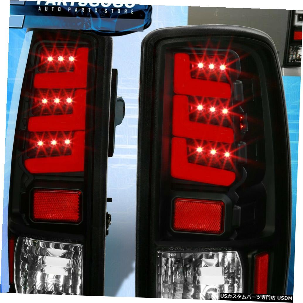 テールライト 00-06ユーコンタホ郊外の交換用LEDテールライトブレーキランプブラック For 00-06 Yukon Tahoe Suburban Replacement LED Tail Lights Brake Lamps Black