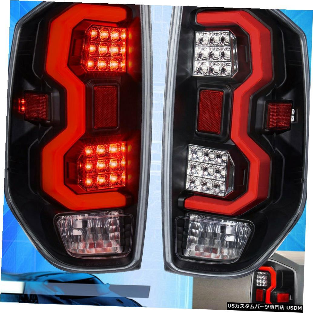 テールライト 14-20ツンドラブラックハウジングクリアレンズテールライトレッドチューブL.E.D交換用 For 14-20 Tundra Black Housing Clear Lens Tail Light Red Tube L.E.D Replacement
