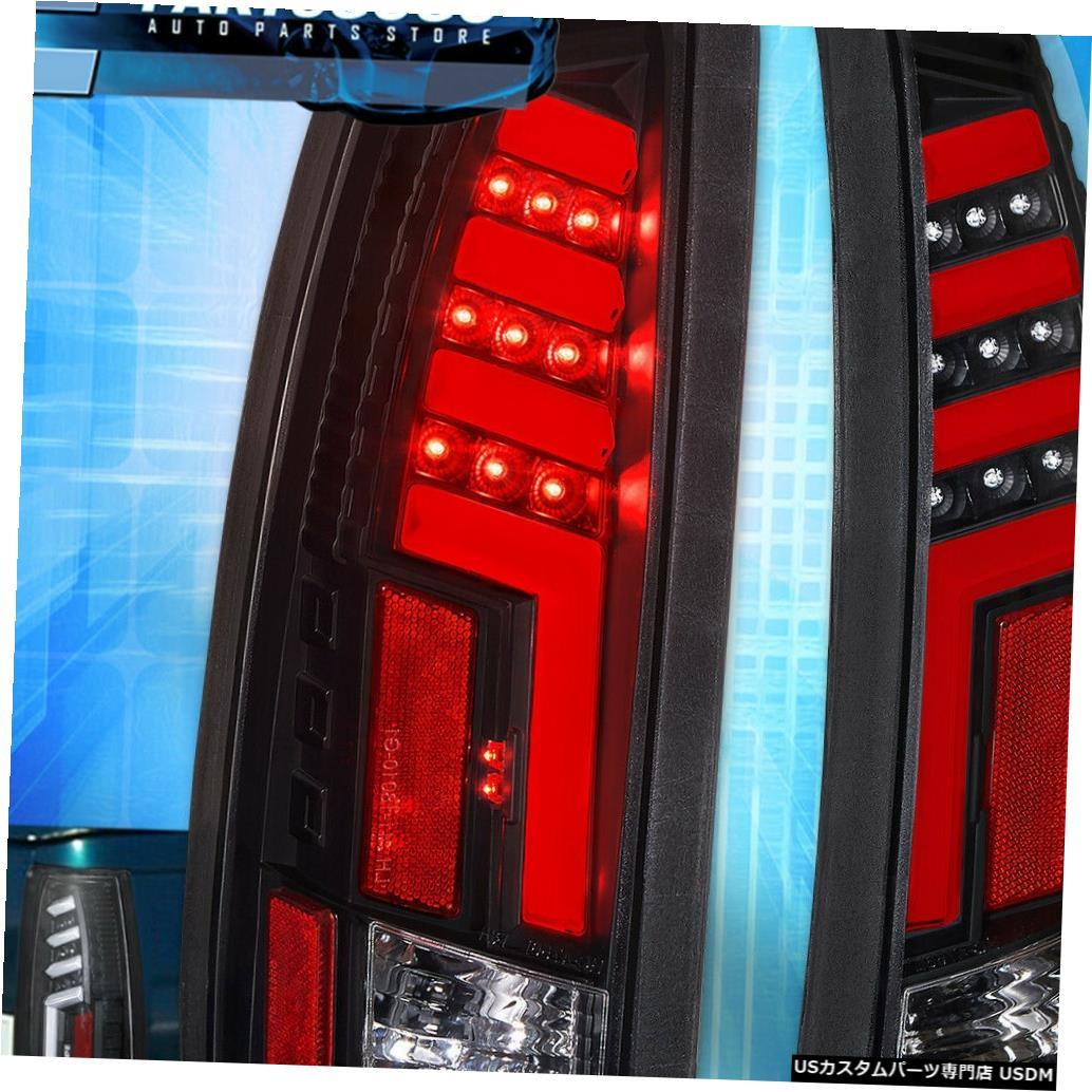 テールライト 1988-1998シボレーGmc C10ブラックハウジング赤Ledチューブスタイルテールライトランプの For 1988-1998 Chevy Gmc C10 Black Housing Red Led Tube Style Tail Light Lamps