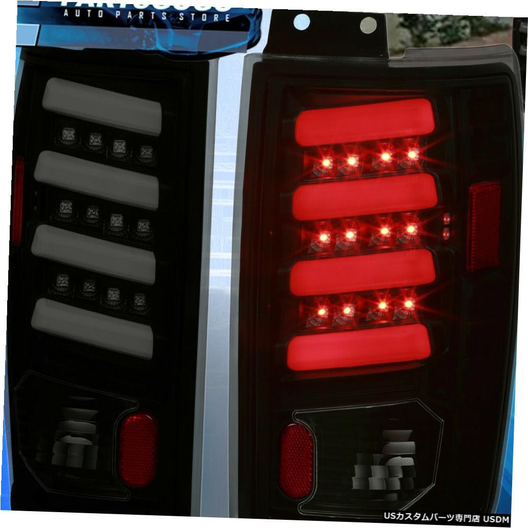 テールライト 1997-2002フォード遠征の煙/ブラックレンズホワイトチューブLedテールライトランプ For 1997-2002 Ford Expedition Smoke/Black Lens White Tube Led Tail Light Lamps