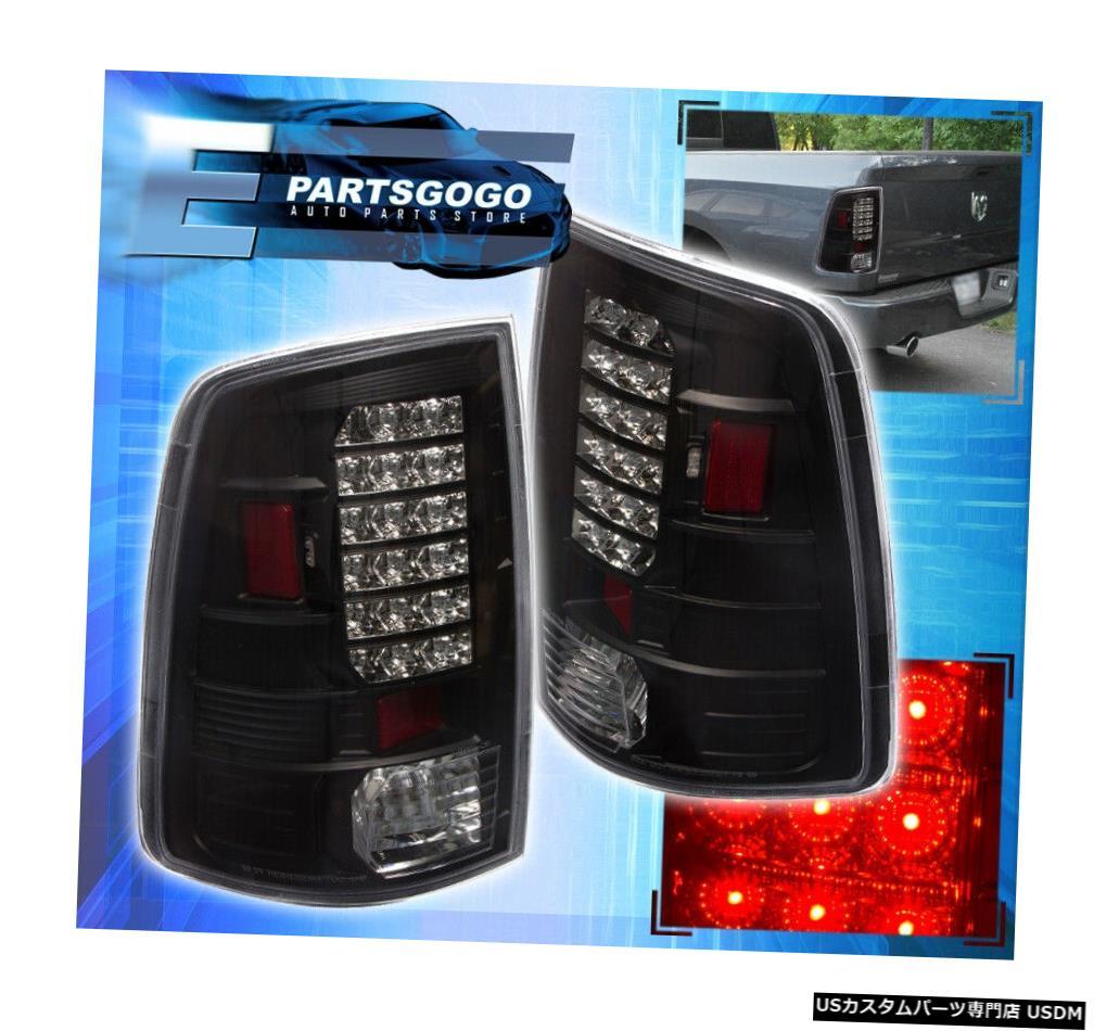 テールライト 09-17ラム1500駆動用交換LEDブレーキテールライトランプアセンブリブラック 09-17 Ram 1500 Driving Replacement Led Brake Tail Lights Lamps Assembly Black