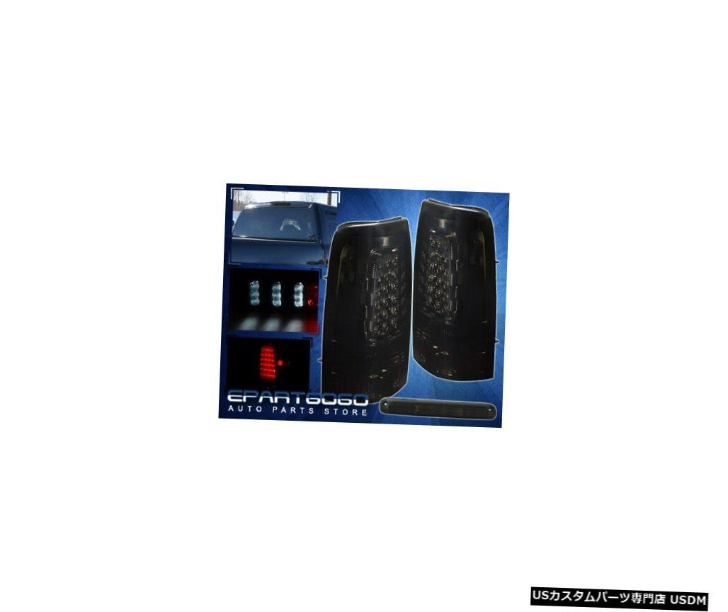 テールライト 99-02シルバラードドライビングリアLEDテールライト+ 3RdストップランプスモークレンズLh Rh 99-02 Silverado Driving Rear Led Tail Lights + 3Rd Stop Lamp Smoke Lens Lh Rh