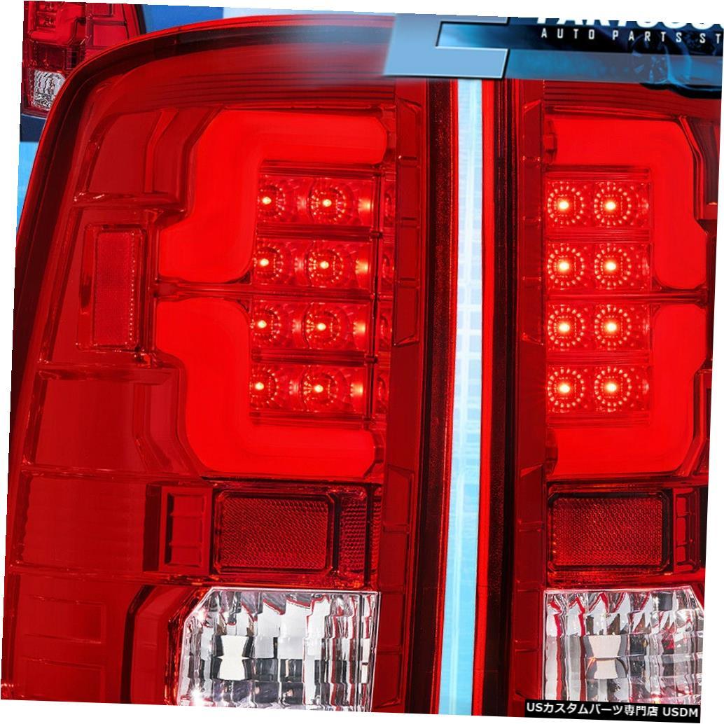 テールライト 2009-2018ダッジラム1500 2500 3500レッドレンズクロームハウジングLedテールライト For 2009-2018 Dodge Ram 1500 2500 3500 Red Lens Chrome Housing Led Tail Lights