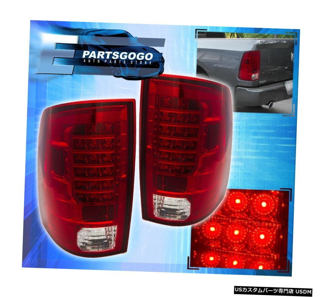 テールライト 09-17ラム1500駆動用交換LEDブレーキテールライトランプアセンブリレッドレンズ 09-17 Ram 1500 Driving Replacement Led Brake Tail Lights Lamps Assembly Red Lens