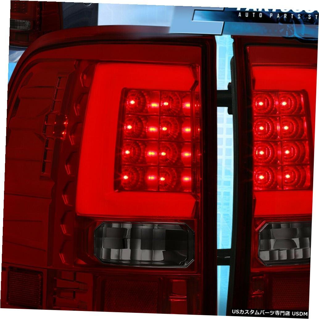 テールライト 2002年2003年2004年2005年のフォードエクスプローラーの白い導かれた管のための赤い煙の尾灯ランプ Red Smoke Tail Lights Lamps For 2002 2003 2004 2005 Ford Explorer White Led Tube