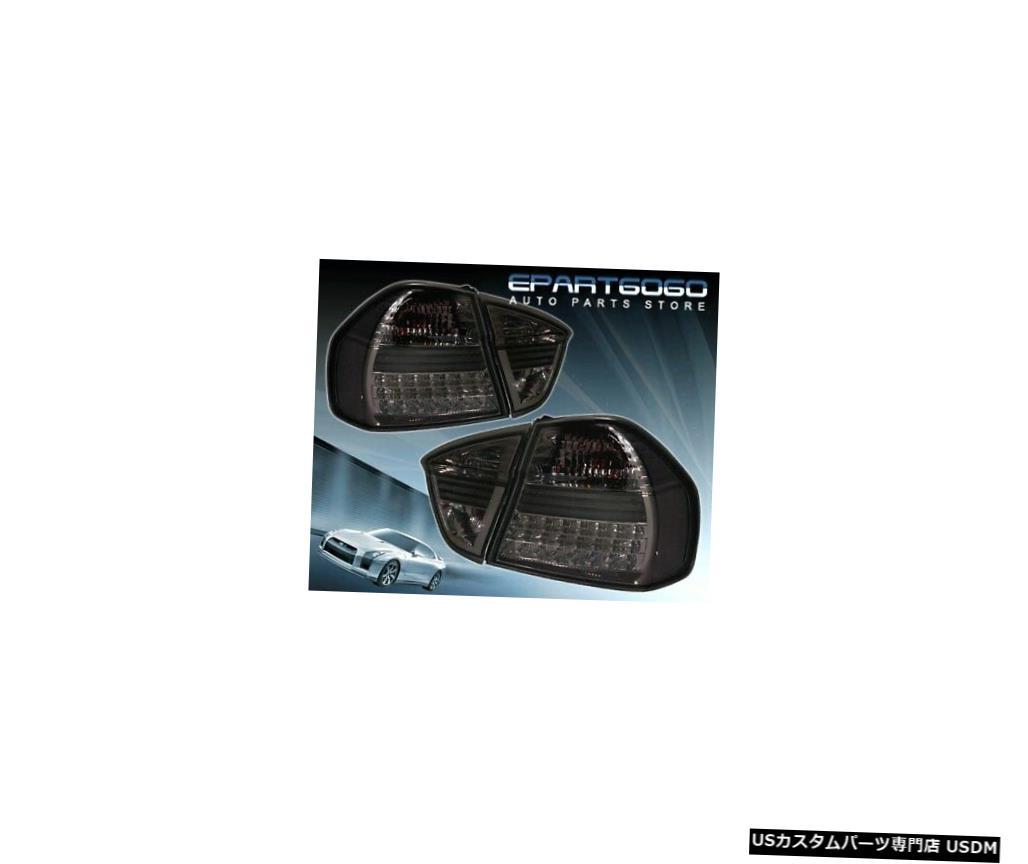 テールライト 06-08 Bmw E90 3シリーズ4Drセダン用スモークティントレンズLEDテールライトブレーキランプ Smoke Tint Lens Led Tail Light Brake Lamp For 06-08 Bmw E90 3-Series 4Dr Sedan