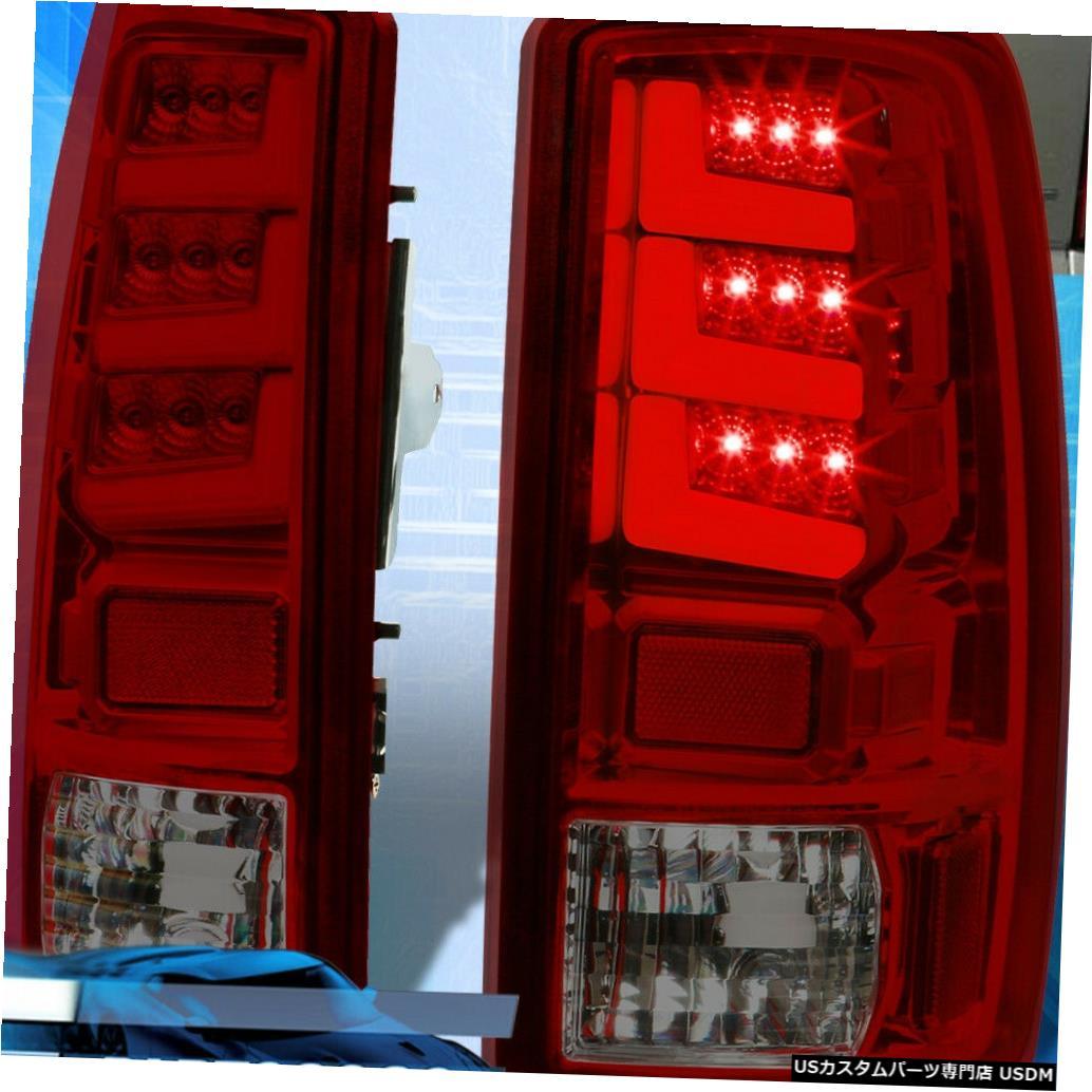 テールライト 00-06ユーコンタホ郊外の交換用LEDテールライトブレーキランプ赤煙 For 00-06 Yukon Tahoe Suburban Replacement LED Tail Lights Brake Lamps Red Smoke