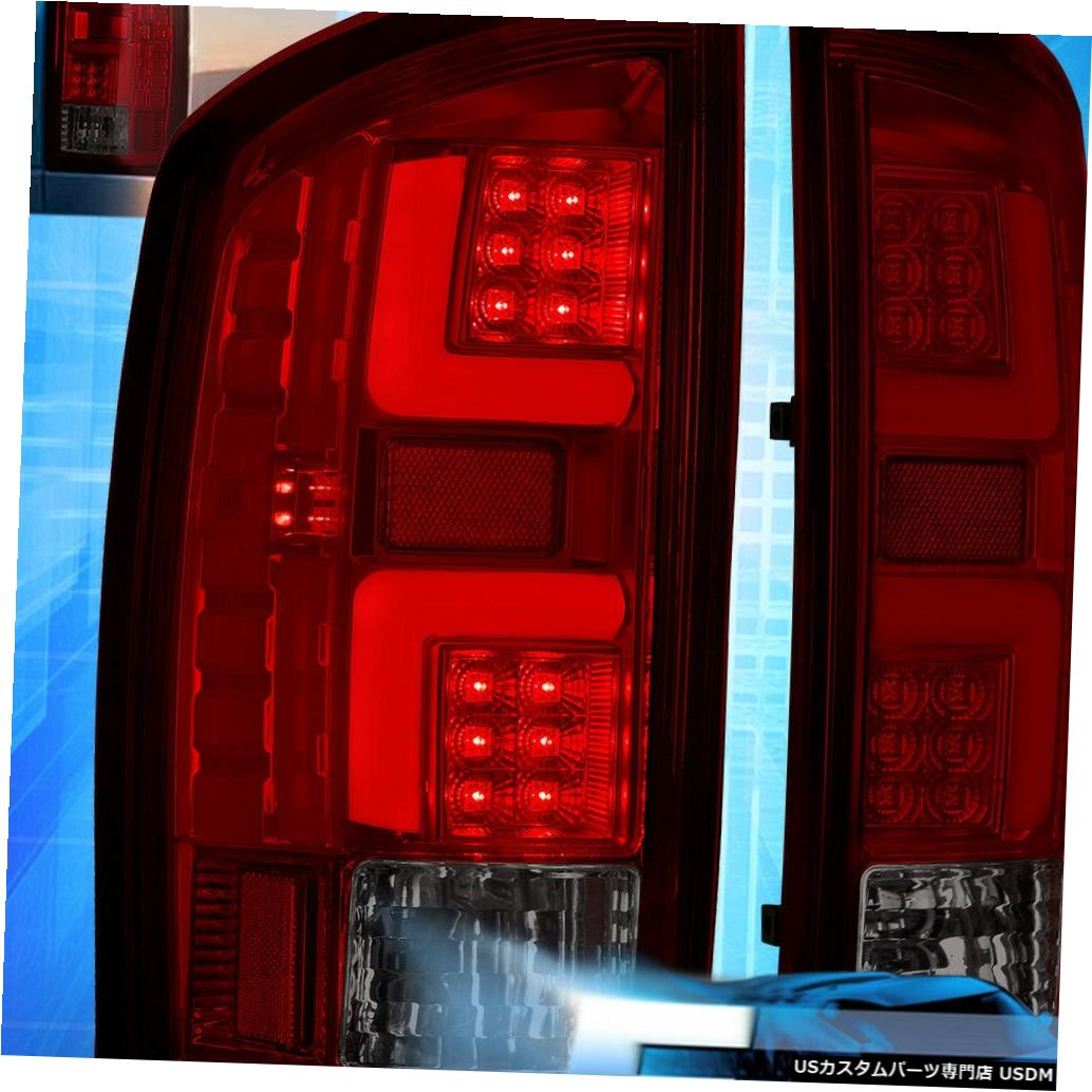 テールライト 2007-2009ダッジラム1500/2500/3500赤レンズLedチューブテールライトブレーキランプ For 2007-2009 Dodge Ram 1500/2500/3500 Red Lens Led Tube Tail Light Brake Lamp