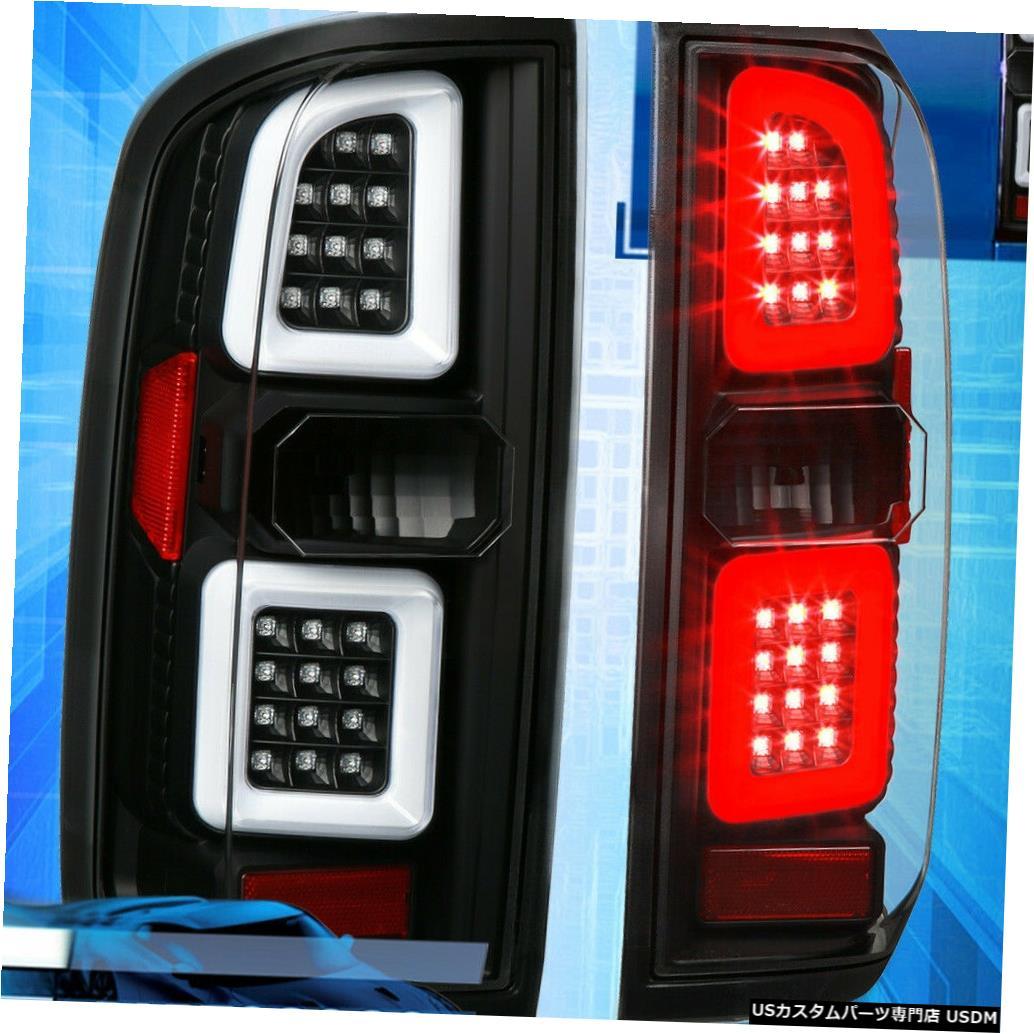 テールライト 15-19シボレーコロラド/ GmcキャニオンLedチューブファントムブラックハウジングテールライト用 For 15-19 Chevy Colorado/Gmc Canyon Led Tube Phantom Black Housing Tail Lights